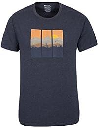 Mountain Warehouse T-shirt homme manches courtes Respirant Isocool Imprimé Résistant lavage Vertical Limits