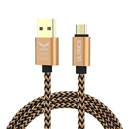 ULTRICS Micro USB Kabel 1M, Nylon Geflochten Ladekabel High Speed 480Mbps Datenkabel, Schnellladekabel Kompatibel mit Samsung Galaxy S6/S7 Edge, Sony Nokia LG, PS4 Xbox, Tablet und andere Android - High-speed-usb Edge