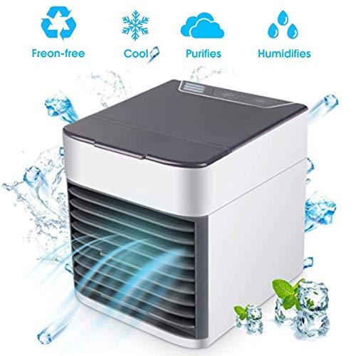 Climatiseur Portable Refroidisseur D'air-Ventilateur USB Muitifonction 3 EN 1Mini Air Climatiseur Humidificateur Air Purificateur pour Bureau, Maison