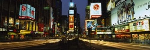 The Poster Corp Panoramic Images - Shopping malls in a city Times Square Manhattan New York City New York State USA Photo Print (45,72 x 15,24 cm)