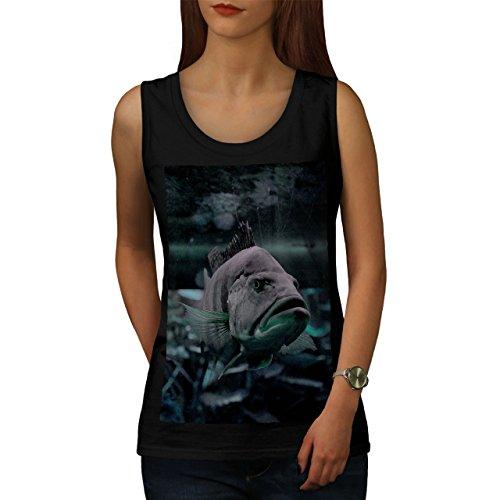 wellcoda Fisch Ozean Foto Tier Frau Tank Top Ozean Athletisches Sport-Shirt
