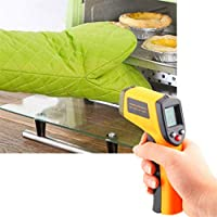 Happy Event Portable Non de Contact LCD IR Laser Infrared Digital Temperature Termómetro GU