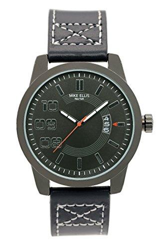 Mike Ellis New York Herren-Armbanduhr Darkrace Analog Quarz Leder SM3132