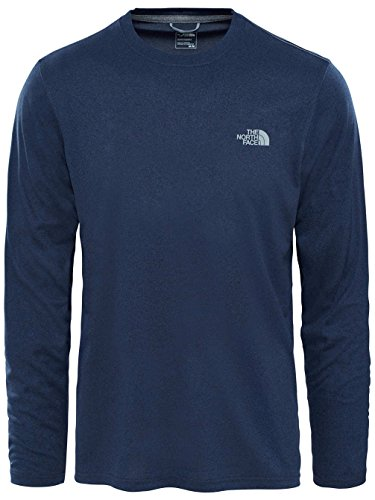 The North Face Reaxion Amp T-Shirt à Manches Longues Homme, Urban Navy Heather, FR : M (Taille Fabricant : M)