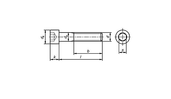 Zylinderschrauben in M6x30mm  Stahl verzinkt  Güte 8.8 DIN912 50 Stk