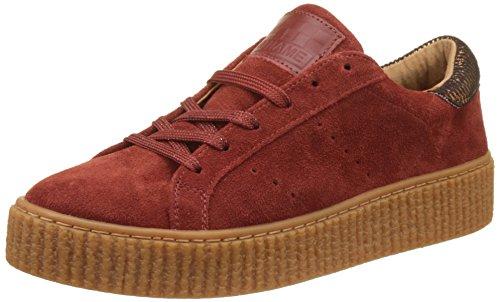 No NamePicadilly Sneaker Suede - botas de caño bajo Mujer , rojo (Rouge  (Pumpkin