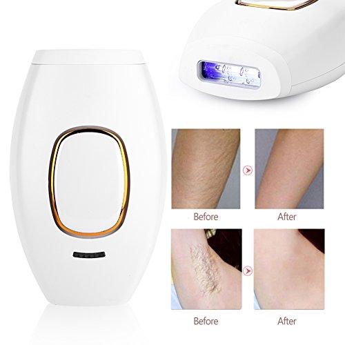 Sistema IPL Dispositivo de depilación eliminación del Vello Permanente sin Dolor, Sistema de depilación Facial para depilación con Cuerpo Completo Mini Skin Tender Depilatory(EU)