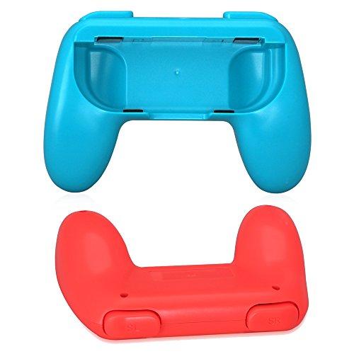 Hand Grips für Nintendo Switch joy-con, 2pcs-izquierda und rechts, clasico-rojo und Blau Game Controller Handle Kit For Nintendo Switch joy-con (Red and Blue) - 2 Erhöhten Panel
