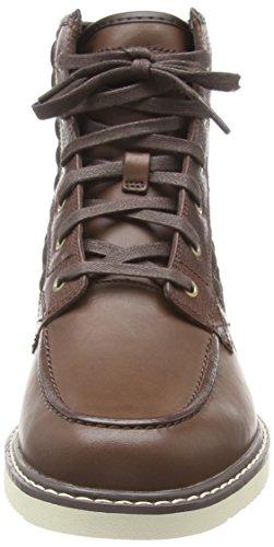 Timberland Newmarket FTB_Newmarket Moc Toe 6 in Herren Kurzschaft Stiefel Braun (Dark Brown)