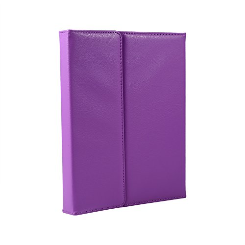 VBESTLIFE Stilvoller drahtloser Bluetooth Tastatur Stand PU Leder Kasten Abdeckung Tablethülle für iPad 2/3/4 Tablette(Lila) - Stilvolle Drahtlose Tastatur