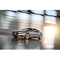 Classica e pubblicità muscoli e per auto Mercedes-Benz S-Class-Coupé (2013) Concept-Art-Stampa su carta satinata, 10 mil Archival Lato frontale con movimento, colore: argento, Carta, Silver Front Side Motion View, 24
