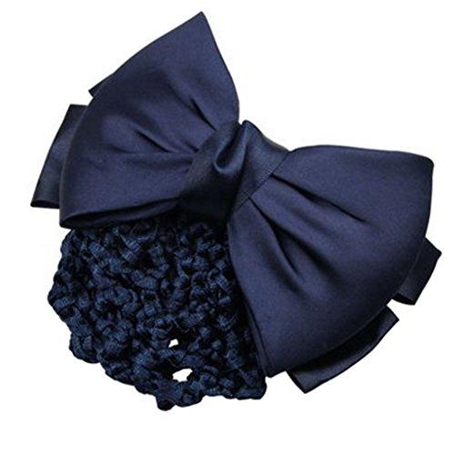 3pcs Bow Tie barette cheveux clip Snood Net coiffure pour les femmes, L