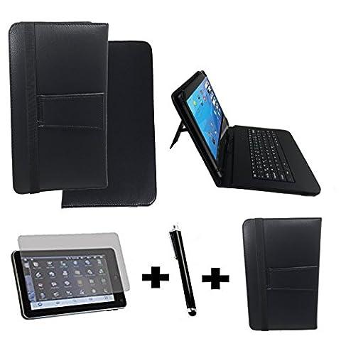 3Kit de démarrage pour Samsung Galaxy Tab A6Clavier QWERTZ Sacoche + Stylet + Film de protection–10.1pouces Clavier noir