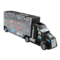 IPOTCH Carrier Truck Toy - Toy Car Dinosaur With 24 Mini Dinosaurs Toy Carrier Dinosaur Truck Educational For Child