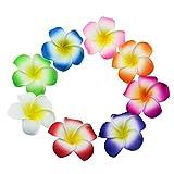 Lot de 80 fleurs de frangipanier pour décoration de gâteau de mariage, bouquet, thème Hawaii, Luau
