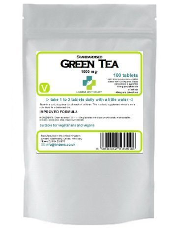 Green Tea 100 tablets 1000mg quality standardised extract (diet) Test