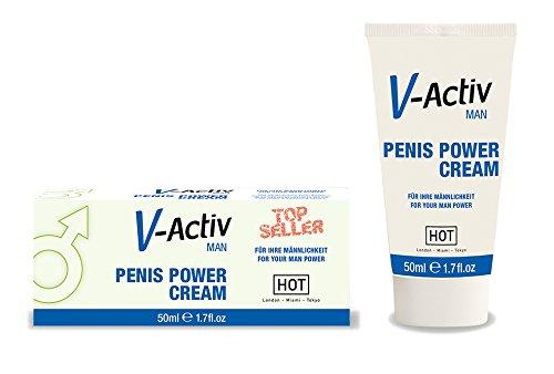 Hot v-activ hombre crema potenciadora ereccion