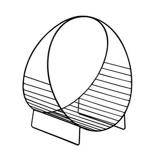 YJLGRYF Haushalt Bücherregal Stand-Desktop-Bücherregal Racks Eisen Mini Tisch Zeitungsständer Gold Schwarz 48x33x53cm Haus Dekoration (Color : Black) - Dvd-turm Rack