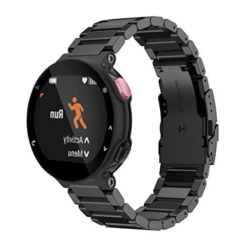 Hunpta Metall Edelstahl Uhrenarmband Bügel für Garmin Forerunner 220 230 235 630 620 735 (Black)