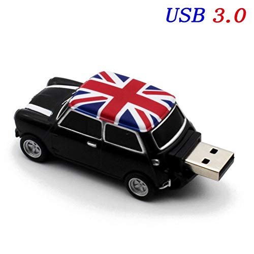 YANODA Symulacja Samochodu 64GB Clé USB Kreatywny Cooper Samochody Modelu 3.0 Clé USB Clé USB 16 Go 32 Go 64 Go (Capacity : 16GB, Color : Mini (Black))