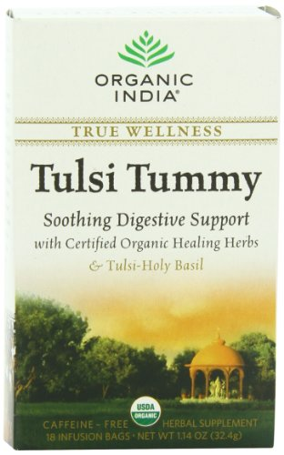 Organic India Tulsi Tummy - 18 Tea Bags  available at amazon for Rs.105