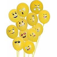 Sunshey 100pcs/lot 12inch Emoji Balloons Thick Latex Balloons Bubble Round Party Balloons by Sunshey