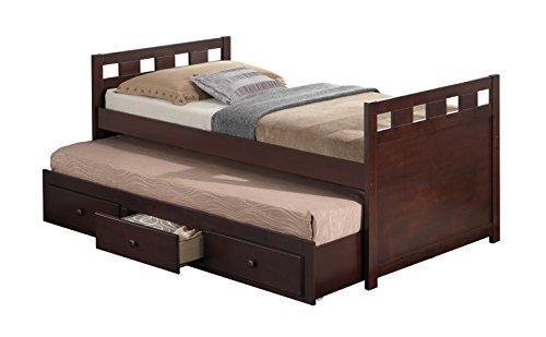BROYHILL Kids Breckenridge (Captain's Bett mit Ausziehbett und Schubladen industriell espresso