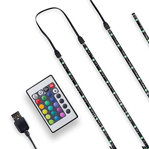 Tv led illuminazione–led stripe–led band dimmerabile autoadesivo 2m 48x rgb usb telecomando ip20tv retroilluminazione stripes nastri di luce luce di striscia di nastro luce freno