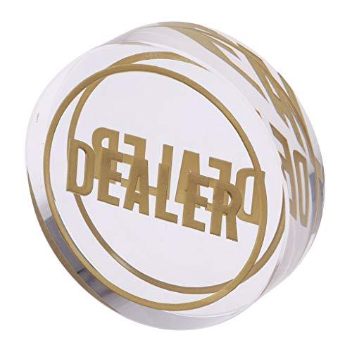 Baoblaze Händlerchip Pokerbottons Token Kleine große Händler Chips Geschenk und Sammlung für Poker-Kartenspiel-Liebhaber