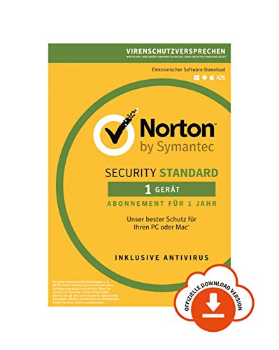 Norton Security Standard 2019 | 1 Gerät | 1 Jahr | PC/Mac/Android/iOS | Download (Computer-software-antivirus)