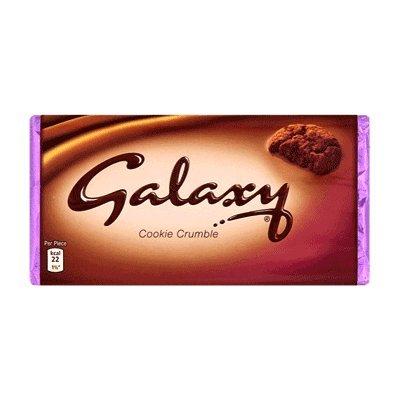 2x Galaxy Cookie Crumble Chocolate 119g