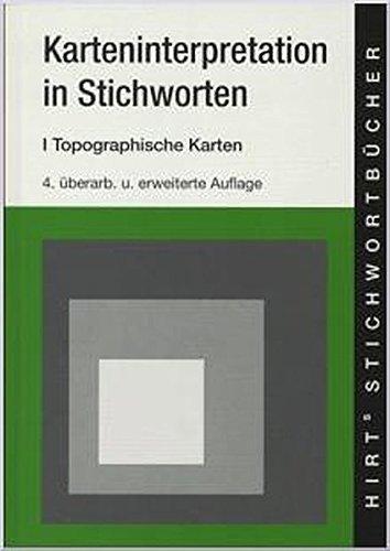 Hirts Stichwortbücher, Karteninterpretation in Stichworten