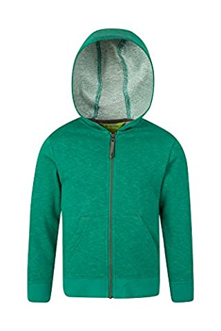 Mountain Warehouse Phoenix Kids Hoodie - 100% Cotton, Brushed Inner with Ribbed Cuffs & Hem, Two Front Pockets for Easy Storage & Easy Care Khaki 5-6 years