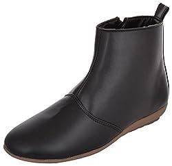 Exotique Womens Black Casual Boots (EL0030_BLACK_36)