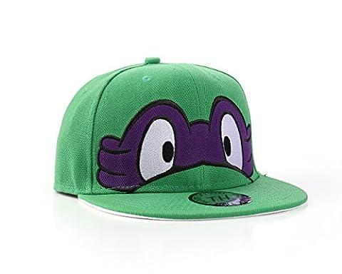 Ninja Turtles - Flat Peak Adjustable Snapback Baseball Cap (Purple)
