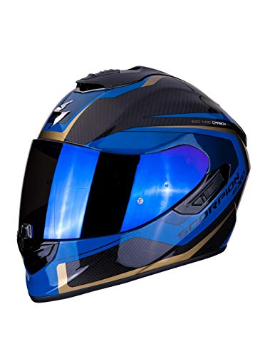 Casco integral Scorpion EXO-1400 negro azul carbono