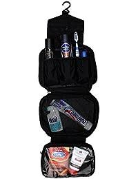 Torido Premium Kulturtasche zum Aufhängen, wasserdichte Waschtasche, faltbarer Kulturbeutel mit Haken fürs Reisen, verschiedene Fächerarten