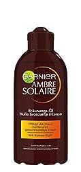 Garnier Ambre Solaire Tiefbraun Sonnenöl, für eine schnelle, natürliche Bräune, zieht schnell ein, mit Kokos-Duft, 200 ml