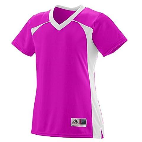 Augusta Sportswear Girls' Victor Replica Jersey S Power Pink/White (US)