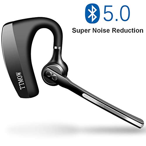 TTMOW Bluetooth Headset V5.0, Rauschunterdrückung CVC 8.0 Wireless Kopfhörer mit Mikrofon, Drahtloses Handfreies Ohrhörer Business-Version, Ermöglicht HD-Anrufe in Lauten Umgebungen