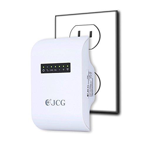 Répéteur WiFi AC 600 Mbps, JCG U26, WiFi Amplificateur Double Bande 2.4GHz, 5GHz