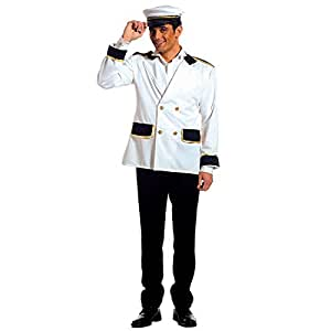 Hommes veste de capitaine déguisement capitaine marin marine uniforme veste déguisement de capitaine costume pour homme T. L 50/52