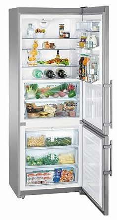Liebherr CBNPes 5156-20 Premium Autonome 421L A++ Acier inoxydable réfrigérateur-congélateur - Réfrigérateurs-congélateurs (421 L, SN-T, 14 kg/24h, A++, Nouvelle zone compartiment, Acier inoxydable)