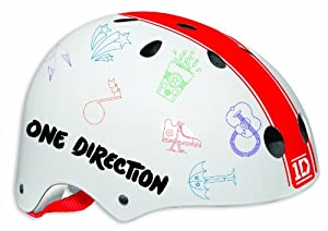 One Direction Kids Ramp Safety Helmet - Red/White, 54-58 cm