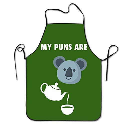Fußmatte Shirt My Puns Are Koala Tee Küche Schürze für Frauen Lustige Schürze Kleid Männer Kochschürze Pinafore