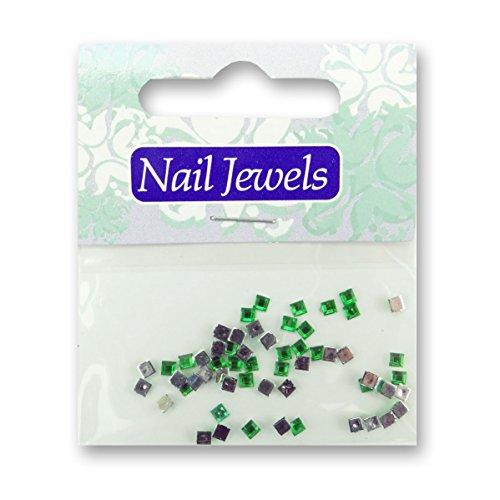 Eigenart Nail Art strass en acrylique rectangulaire – vert clair