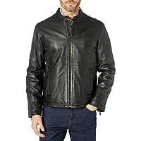Cole Haan Men's Leather Jacket, Black, XX-Large