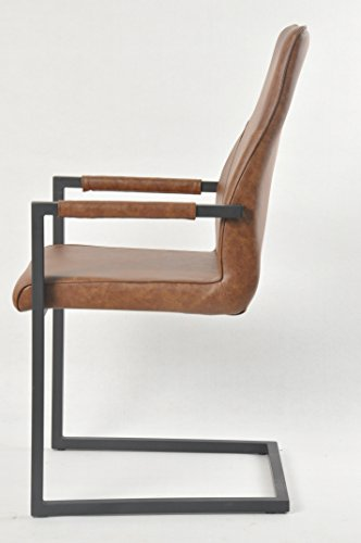 Design Esszimmerstuhl salesfever stilvoller armlehnstuhl giada in hellbraun stuhl in