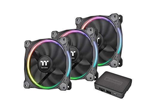 Thermaltake Riing 12 LED RGB Radiator Fan Sync Edition (3-Fan Pack) / CL-F071-PL12SW-A/Ventola da 120 mm con LED RGB