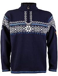 Dale of Norway - Pull pour Homme Holmenkollen, Couleur Bleu Marine Blanc  cassé  903bd668670